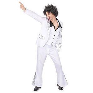 ACCESSOIRE DÉGUISEMENT Déguisement disco homme blanc et argent costume ca