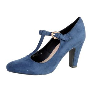 SANDALE - NU-PIEDS Chaussure Salome The Divine Factory Marine