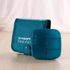 SAC DE VOYAGE Pill Box Wallet Square Design Case pilulier Boîte