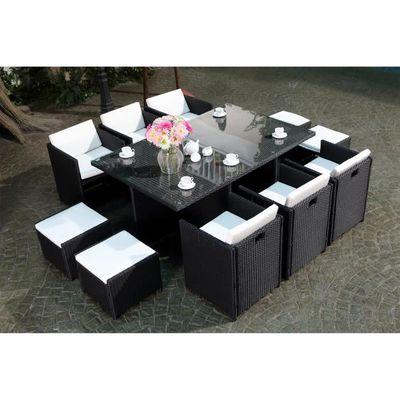 Vito Salon jardin noir encastrable 10 personnes - Achat / Vente ...