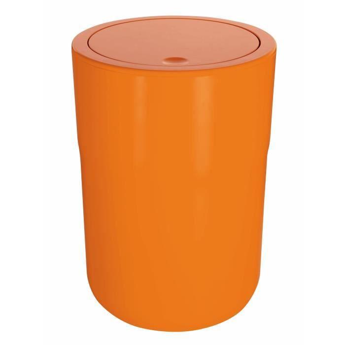 COCCO Poubelle Salle De Bain   26 X 19 X 19 Cm   Orange