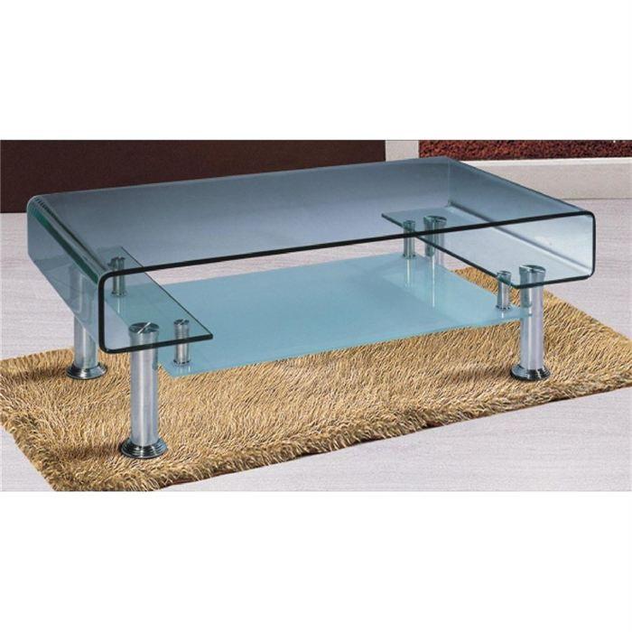 table basse design elina en verre