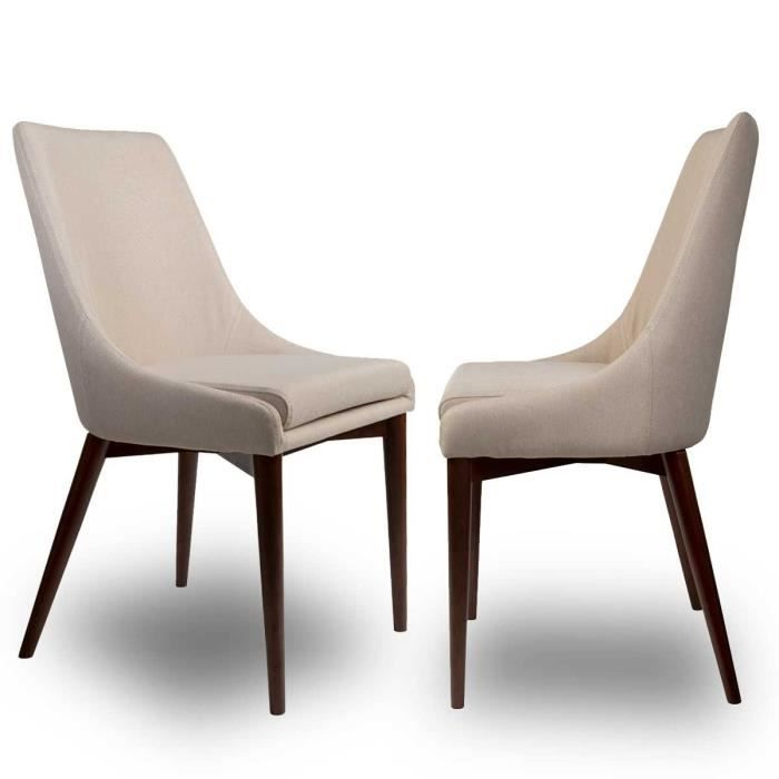 Chaise Tissu Design Juju Beige