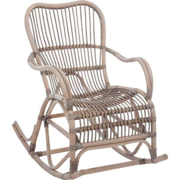 fauteuil bascule en rotin gris gris achat vente fauteuil black friday le 22 11 18h. Black Bedroom Furniture Sets. Home Design Ideas