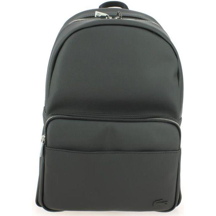Dos Lacoste Backpack 12 Achat 12 L Zippé Concept Sac À Noir 80nmNw