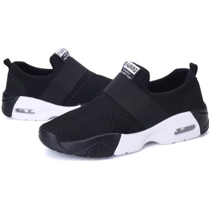 Basket Femmes Chaussures Sport Feminine Respirante Chaussures Noir 2re3cps