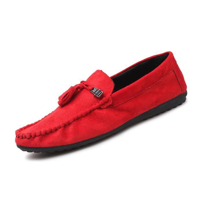 Hommes Chaussures Casual Chaussures Suede Cuir Hommes Mocassins antidérapants Flats Mâles Conduite Chaussures