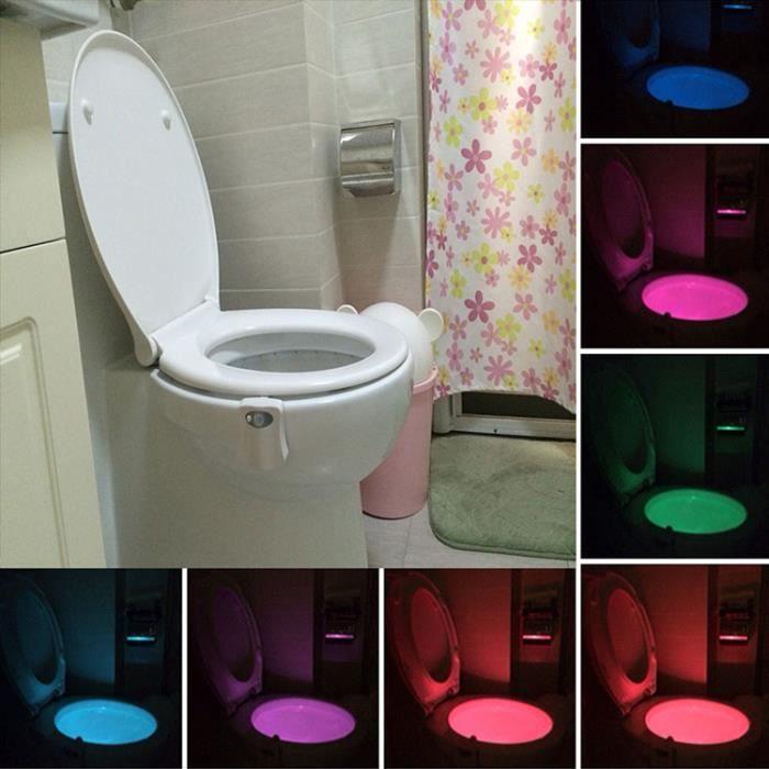Automatique Siège Lampe Du Salle Nuit Changement De Capteurs Led Corps Toilettes 8 Couleur Bains Veilleuse EIYeDH29W