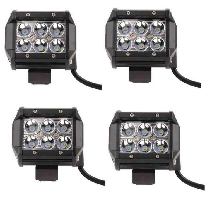 Lampe Pour Stoex® Phare 18w Moto 4pcs Camion Atv Longue Terrain Vtt Portée Led Étanche Travail Tout À Jeep Suv De Véhicule 6 iXuTOkZP