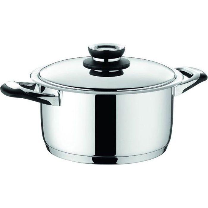Faitout avec couvercle ecovitam 3 8l 20cm warmcook for Plat cuisine inox