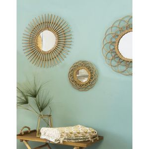 miroir achat vente miroir pas cher cdiscount. Black Bedroom Furniture Sets. Home Design Ideas