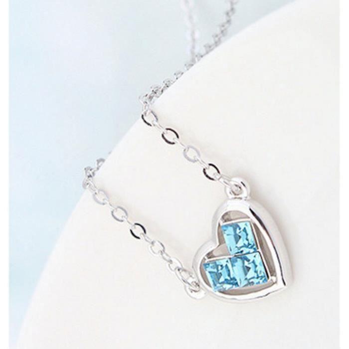 Les cristaux Swarovski femmes Coeur de diamant - amour - valentine collier pendentif. Mode Wear Daily - partie CORAM