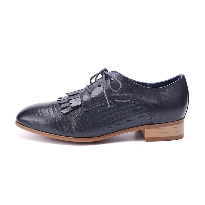 Y2ynb Wingtip Perforé Brogue En À Cuir Lacets Femmes 1 Taille 2 39 Oxfords Derby Chaussures SUqvgRy