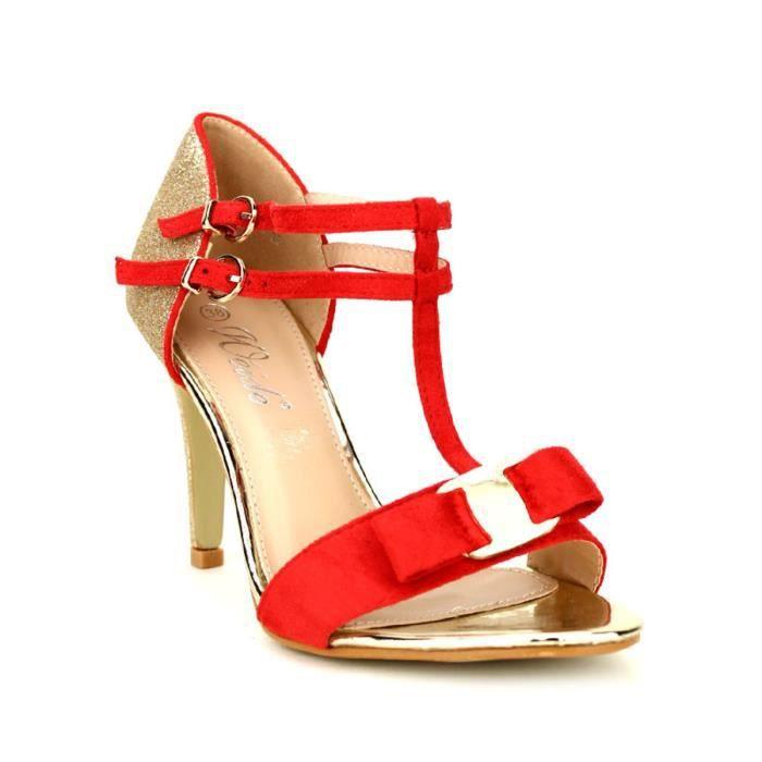 escarpin, Escarpins Rouge Chaussures Femme, Cendriyon