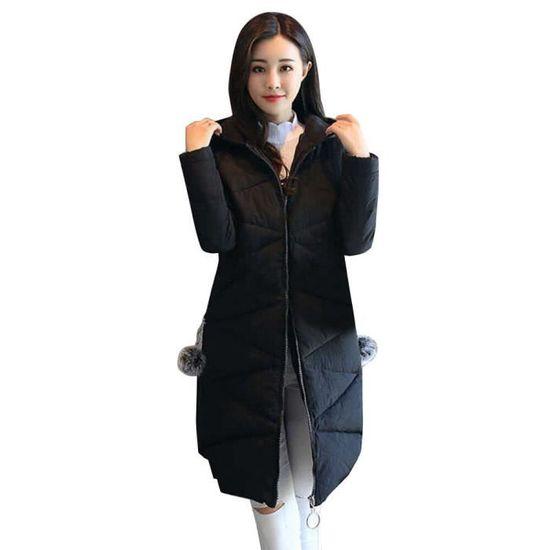 Manteau Outwear Capuche Longue Veste Chaud Parka Femmes mode Lansman À Hiver Fourrure Em7701843 Épais Plus Ball xwRFvzzUq6