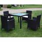 Haute qualité Luxueux Magnifique Economique Jeu de mobilier de jardin 9 pcs  Noir Résine tressée