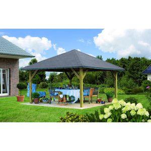 KIOSQUE - GAZEBO HOLM 1 pavillon de jardin en pin - 431x431cm