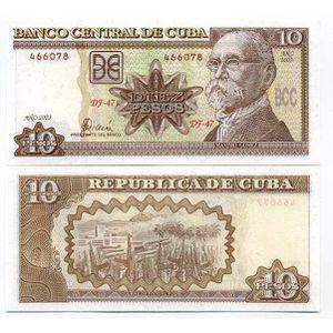BILLET DE BANQUE Billets banque Cuba Pk N° 117 - 10 Pesos