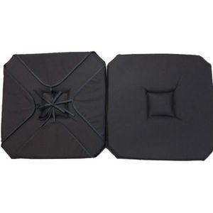 COUSSIN DE CHAISE  Coussin de chaise 4 rabats uni gris anthracite
