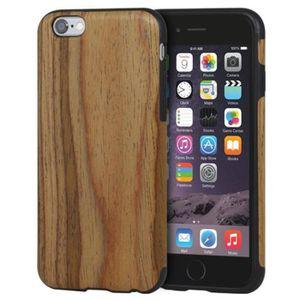 COQUE - BUMPER Moxie Coque en bois fonce pour iPhone 6/6S