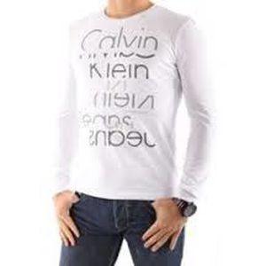 a0f82e44d2d5f T-Shirt Calvin Klein jeans Manche longue Homme Blanc - Achat   Vente ...