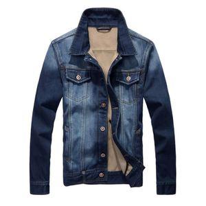 3d366d80f18e BLOUSON Blouson Veste Jean Homme Marque Mode Coréenne Slim