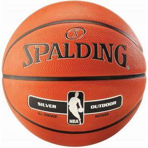b7146a163a352c BALLON DE BASKET-BALL SPALDING Ballon de basket-ball NBA Silver - Orange