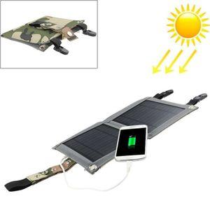 CHARGEUR - ADAPTATEUR  Chargeur solaire Panneau se pliant portatif de 5W
