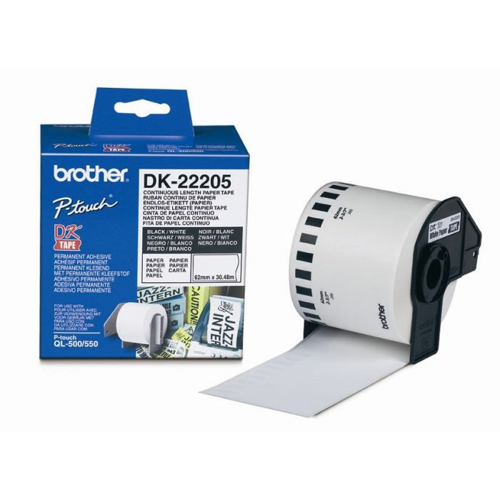 BROTHER Ruban papier P-TOUCH DK-22205