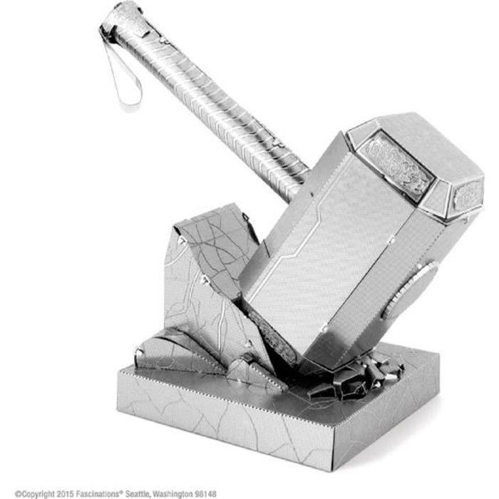 AVENGERS Thor's Hammer Mjolnir Maquette à Construire - 3D - Métal avec 2 feuilles - Sur carte 12x17 cm