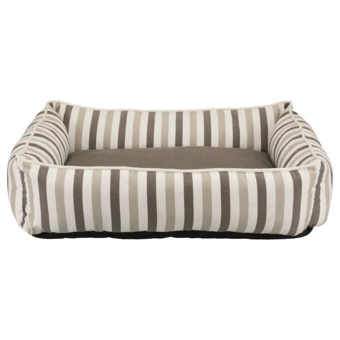 TRIXIE Lit Kimbo - 80 x 65 cm - Blanc et beige taupe - Pour chien