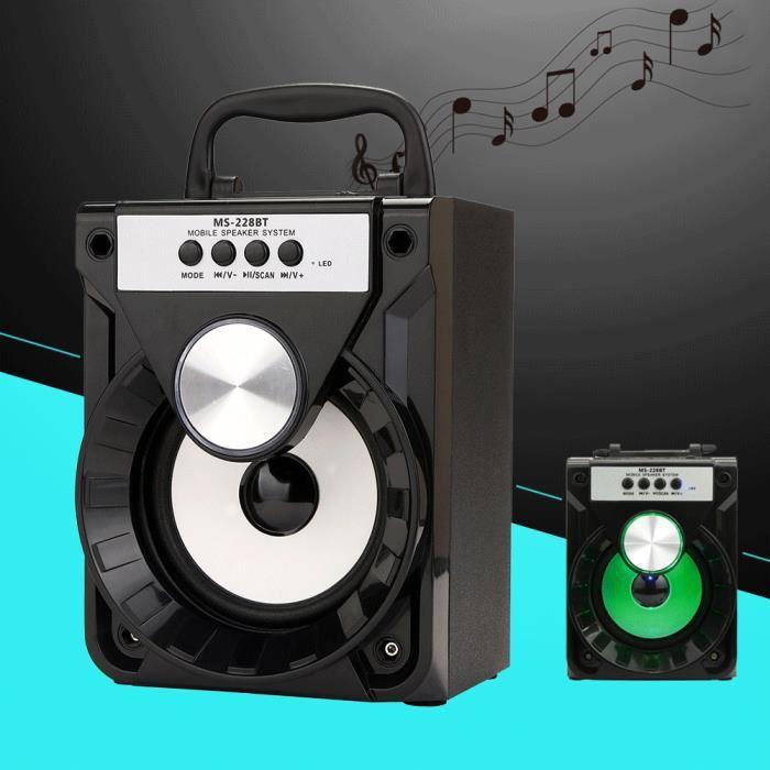 Extérieur Sans Fil Bluetooth Haut-parleur Portable Super Bass Avec Radio Usb - Tf Aux Fm @5198