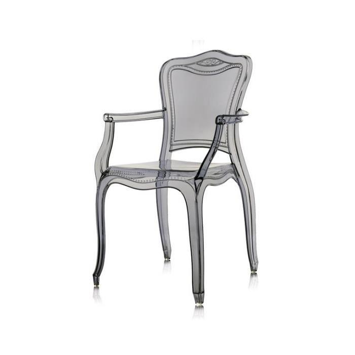 Chaise Baroque Plexiglas Gris Duchesse