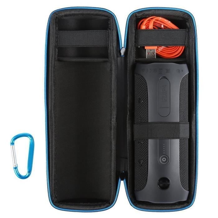 Juce® Étui JBL Flip 4 de Voyage Anti-poussière étanche Housse de Protection  Avec Poche pour Câble et Chargeur 9b153ace98d