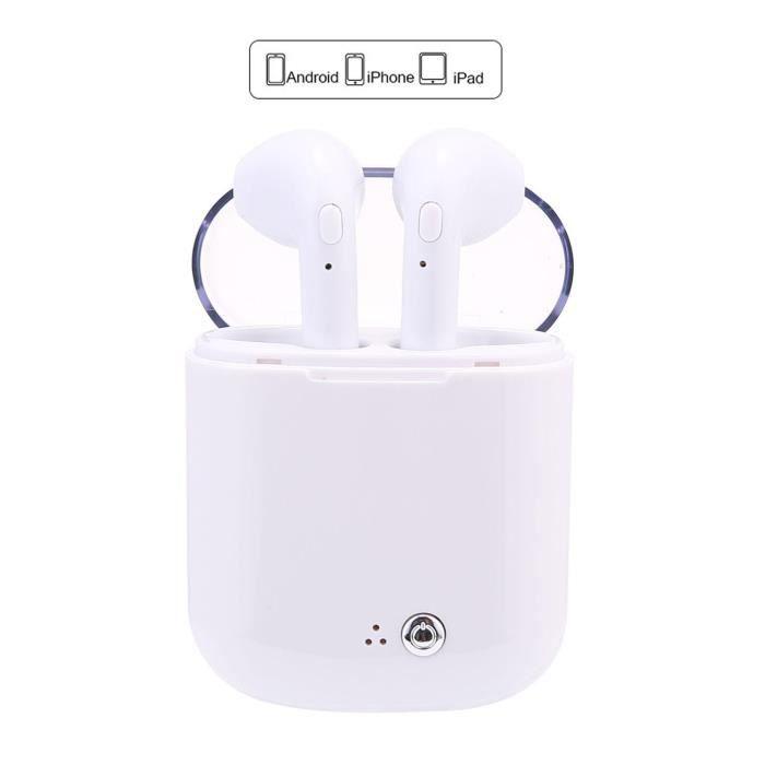 I7s Plus Casque Sans Fil Binaural Bluetooth La Version De Mise À Niveau En Cristal Blanc