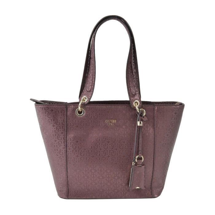 d8042f83c6 Sac shopping Guess pour femme Rouge bordeaux - Achat / Vente sac ...