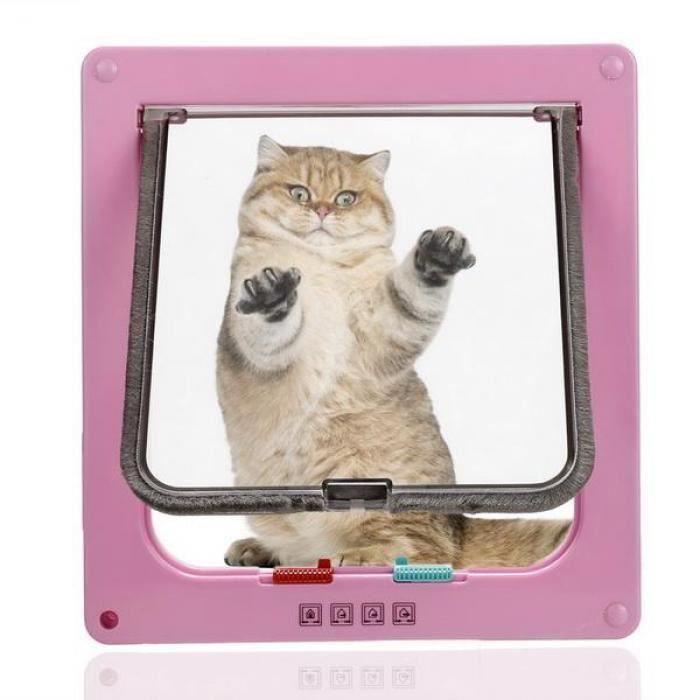 Porte Pour Animaux Chien Chat En ABS Taille M Couleur Rose Achat - Porte pour chien