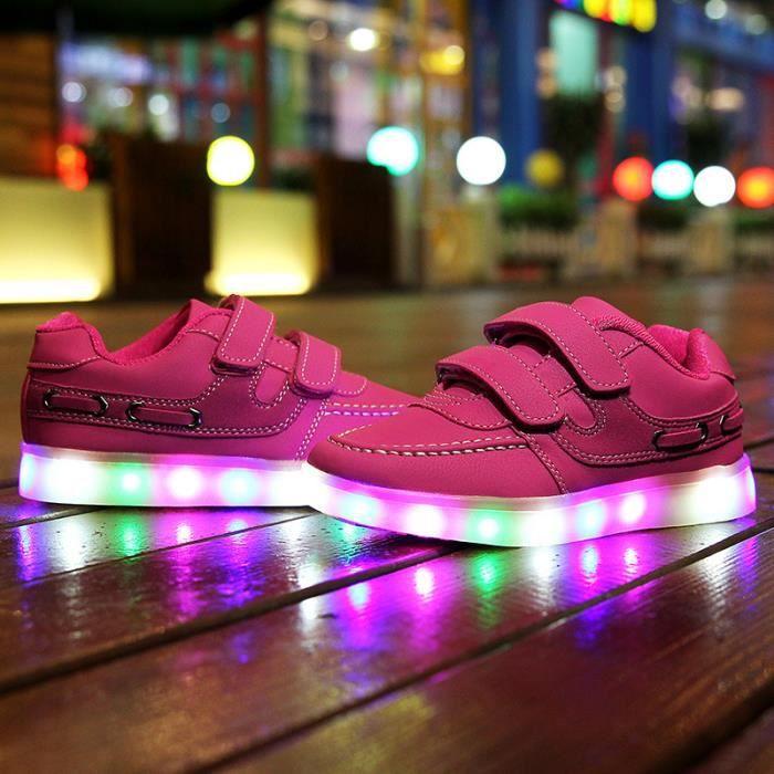 Korean Mode enfants Chaussures LED batterie remplaçable Bw9brHtGw