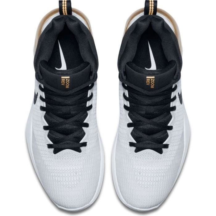 pretty nice a21a9 65c8b Chaussure de Basketball Nike Zoom Rev blanche or pour homme