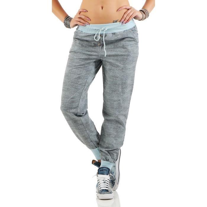 Femmes zarmexx pantalons de survêtement à la mode baggy copain ... ac108fc1400