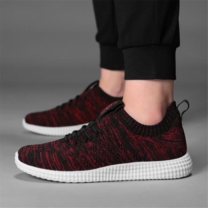 À Homme Léger Noir Résistantes Respirant Chaussures Loisirs Sandales De Moccasins Sneakers Poids L'usure Luxe bleu rouge gris Marque PYqqcd