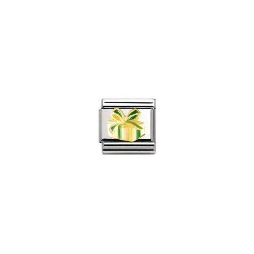 Nomination 030228 - Maillon Pour Bracelet Composable - Femme - Acier Inoxydable Et Or Jaune 18 Cts SNOWN