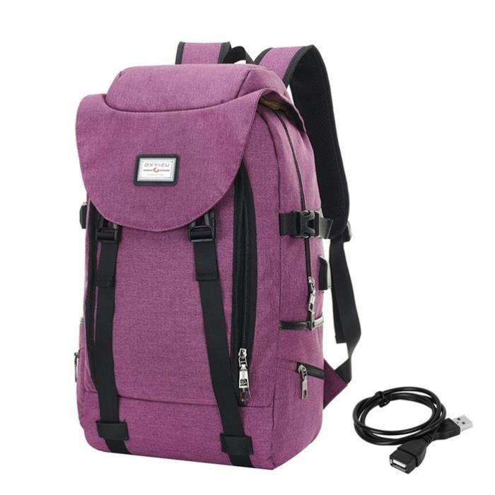 Sac à dos pour ordinateur portable unisexe, Convient 14  ordinateur portable, Violet