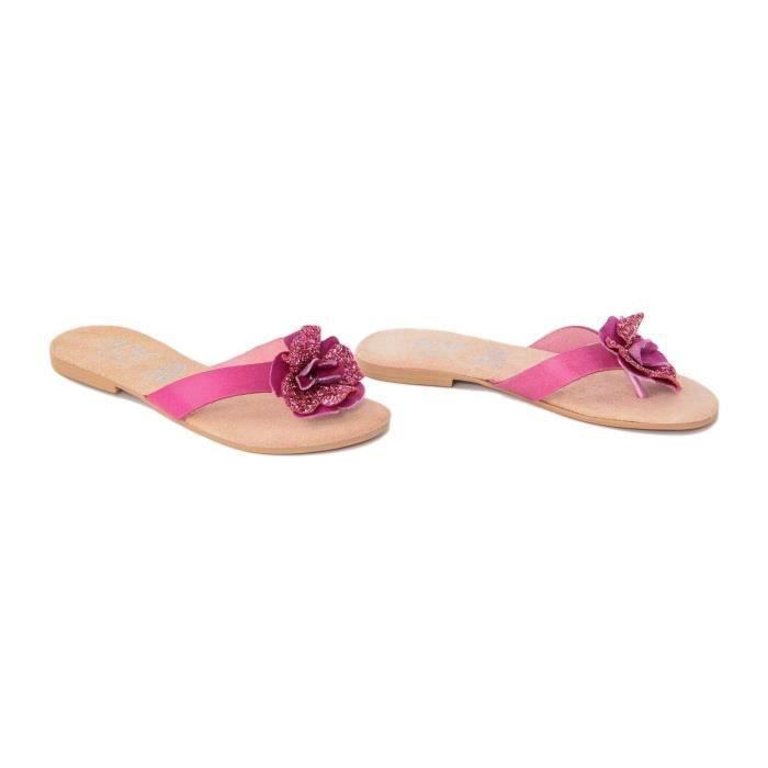 Sandales en cuir - rose Milcv