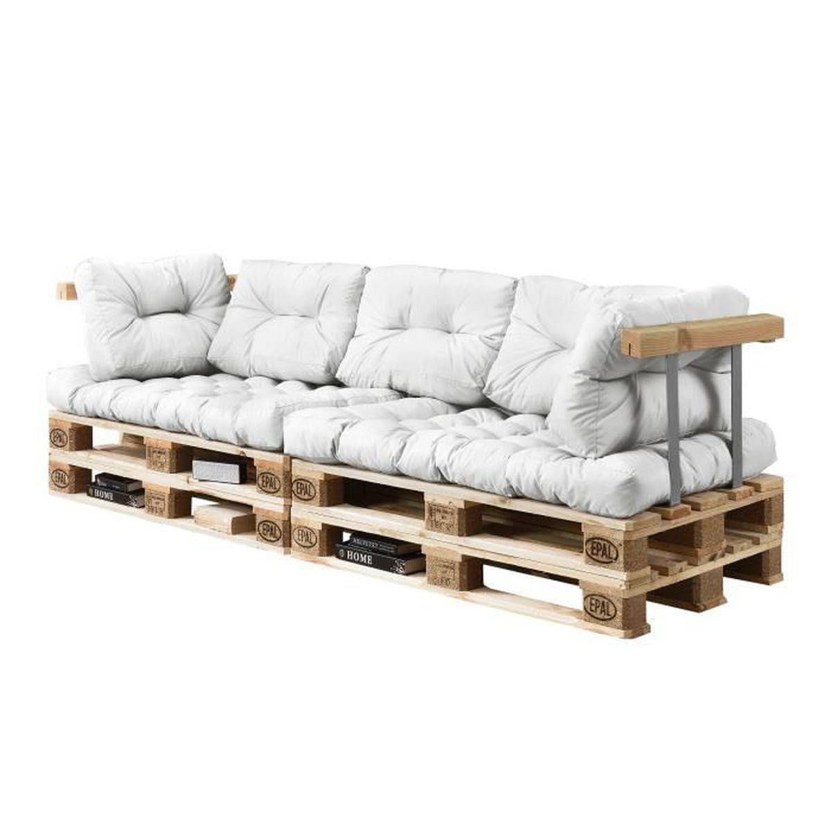 coussins pour palettes 7 pi ces coussin de si ge. Black Bedroom Furniture Sets. Home Design Ideas