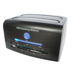 ADAPTATEUR AUDIO-VIDÉO  2,5, 3,5 pouces SATA IDE HDD Docking Station doubl