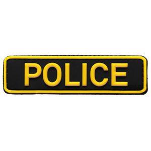 ECUSSON ecusson Police Policier en PVC 3D et Relief Jaune