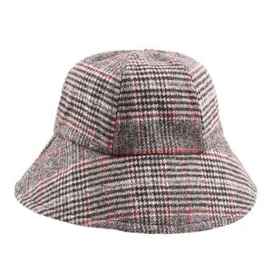 CHAPEAU - BOB Chapeau vintage en coton sergé à carreaux vintage