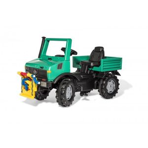 TRACTEUR - CHANTIER ROLLY TOYS Rolly Unimog Forestier + Treuil - Véhic