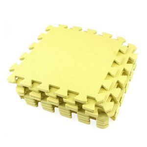 TAPIS DE SOL FITNESS 9x matte de casse-tete jaune EVA Tapis de protecti
